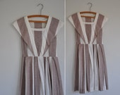 r e s e r v e d...vintage 1950s cotton dress / 50s dress / Safe Inside