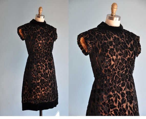 vintage 1950s black velvet ROSIE dress