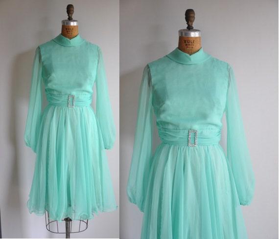 vintage 1960s June Carter mint green designer dress June Carter Dress