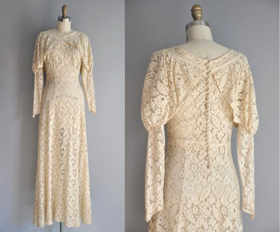r e s e r v e d... vintage 1920s 20s wedding dress // 20s rare antique  lace wedding dress