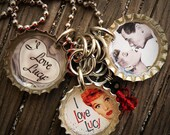 I Love Lucy Themed Bottle Cap Necklace