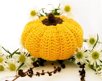 Halloween Home Decor - Crochet Toy - Cotton - Yellow, Brown -  for baby / girl / boy / kids - gift