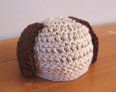 Brown and Tan Puppy Hat Many Colors to choose from