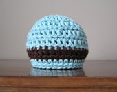 Baby Blue with Brown Stripe