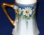 Antique Limoges Porcelain Mug by Paroutaud Freres, La Seynie France