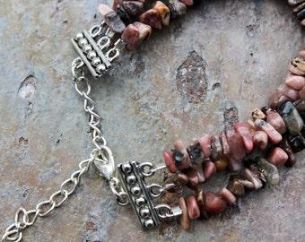 Bracelet: Pink Stone Chips