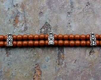 Bracelet: Double Stranded Siena Beads