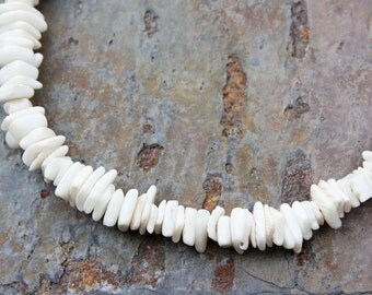 Necklace: SQUARE White Litub Shells