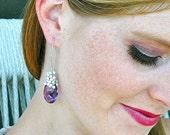 Royal Amethyst Dangle Earrings