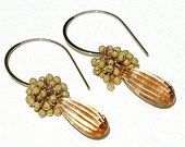 Peach Morganite Gold Stardust Earrings - shopshrew