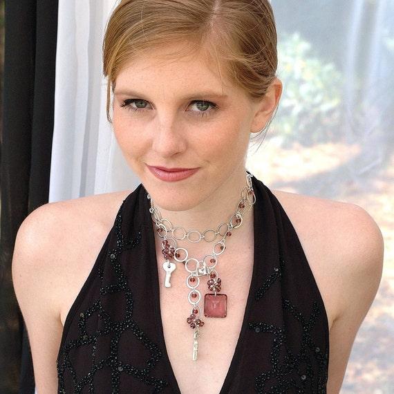 Mauve Ametrine Gypsy Necklace