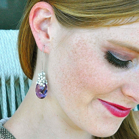 Royal Amethyst Dangle Earrings