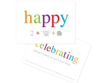 Housewarming Party Invitation, Modern, Change of Address Card, New Home