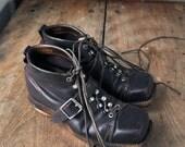 SALE Vintage mens hobnail ski boots