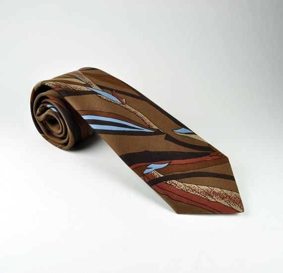 Reserved for Marian Kwok Mid century tropical print tie