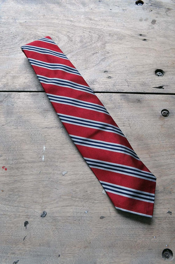 Robert Talbot 80s rep stripe tie red