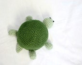 Baby turtle crocheted beanie hat thyme green light dark cap headcovering reptile photography prop headwarmer zoo animal round legs