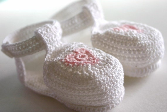 Baby girl sandals newborn 0-3 month white pink heart infant booties baby shower gift shoes summer footwear cotton