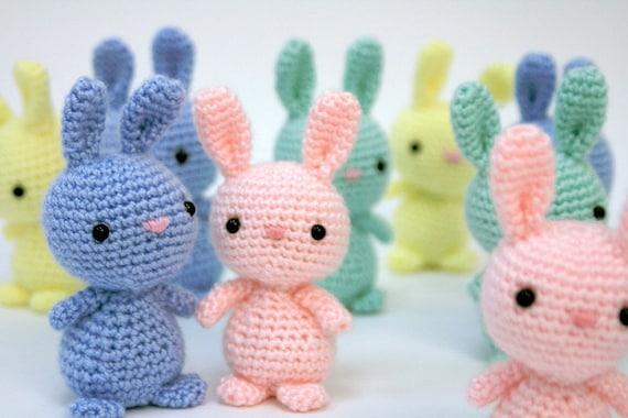 Etsy Amigurumi Bunny : Items similar to ONE Easter bunny amigurumi on Etsy
