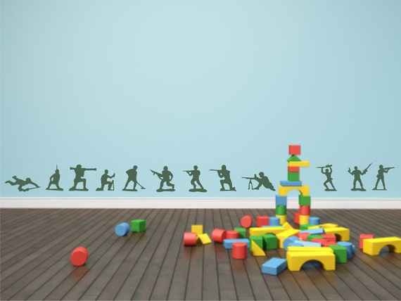 Army Men Vinyl Wall Decal - Toy Army Men Vinyl Wall Decal - Kid's Room Toy Army Men Vinyl Wall Decal - Child's Room Vinyl Wall Decal