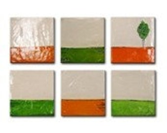 Custom Landscapes - Textured Sculpted Painting Heavy Textured with Certificat of Authenticity