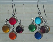 Rock Your Chakras - Luminous, double-sided rainbow earrings