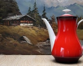 Red tea or coffee pot