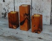 Smoke Stacks- 3 Candle Holders by Peg and Awl