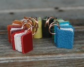 Book Necklace: Teeny tiny scrap leather