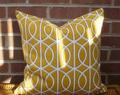 Decorative Pillow Cover: Dwell Studio Designer 18 X 18 Accent Throw Pillow Cover in Canary Yellow