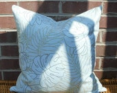 Decorative Pillow Cover: Designer Embroidery 18 X 18 Accent Throw Pillow Cover in Turquoise