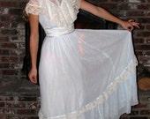 Vintage 70s Victorian Boho Maxi Dress by Candi Jones