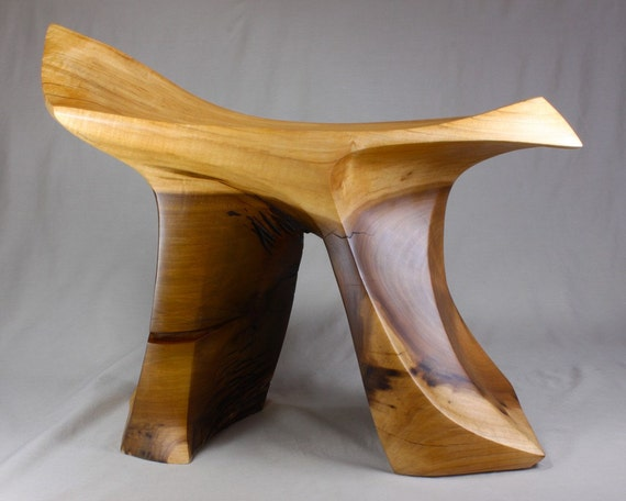 Items Similar To Poplar Carved Stool On Etsy