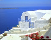 White Stucco, Oia, Santorini, Greece - High Quality Original Digital Photograph, Perfect for Framing