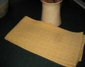 Handwoven Yellow Cotton Kitchen Towel