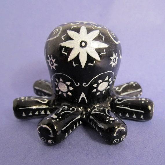 Octo-boy - Día de los Tentacles - Custom Octopus Resin Figure