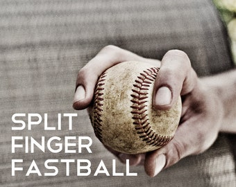 Split Finger Fastball Pitch Black & White Photo Baseball pitches Boys Art Series