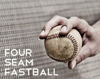 Four seam fastball Pitch Black & White Photo Baseball pitches Boys Art Series