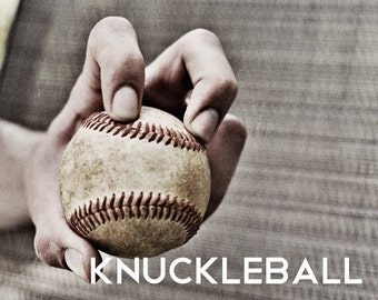 Knuckleball Pitch Black & White Photo Baseball pitches Boys Art Series