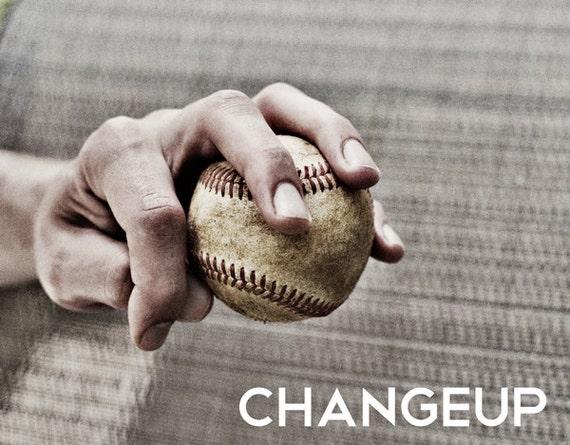 Changeup Pitch Black & White Photo Baseball pitches Boys Art Series