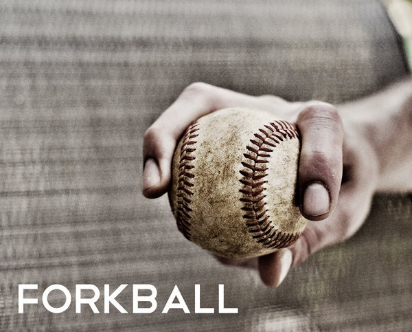 Forkball Pitch Black Amp White Photo Baseball Pitches Boys Art