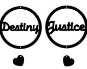 Destiny Justice Earrings - please do not buy unless Destiny