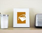 Modern Kitchen Art Print - Liquid Measuring Cup Silhouette