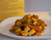 Bell Pepper & Paneer/Tofu Sabji Indian Spice Blend Packet, Recipe, Shopping List