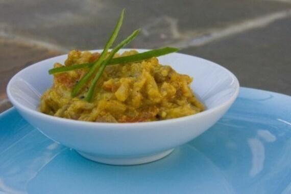 Baigan Bharta (Mashed Eggplant) Sabji Indian Spice Blend Packet, Recipe, and Shopping List