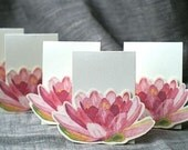 Lily Small Pink Tent Cards - Events, Weddings, Showers, Parties, decoration. Place cards, Signs.