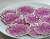 Purple Dahlia Flower Prints - Decorations for weddings and events. Place cards, wishing tree, guest book