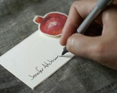 Pomegranate Cards - escort cards, place cards, seating, guests, tent cards for events, parties weddings