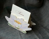 White Lily Table Number Tents- Event signs- Themes of Water lily/ lotus/ Lily Pond