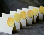 Aspen Yellow Leaf small tent cards - place cards- escort cards - seating - signs